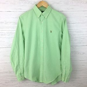 Ralph Lauren Men's Light Green Shirt Classic Fit